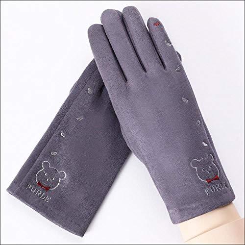 GUANAI Handschuh Cashmere Winter Warme Handschuhe Dicke Handschuhe Nette Mädchen Cartoon Touchscreen Spitze Plüsch Handgelenk Handschuhe 08