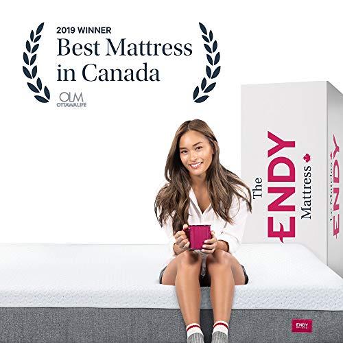 Matelas Endy Queen (Grand) - Matelas en mousse de 10 pouces fièrement fabriqué au Canada avec confort et soutien parfaits - 7