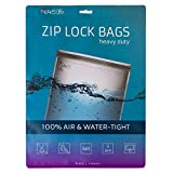 Noaks Bag Set | 5 pezzi | Dry Bag - Sacchetti di Protezione – borse impermeabili - ZIP Sacchetti | involucro di protezione fino a 10 m di profondità, a tenuta d'aria, trattiene gli odori