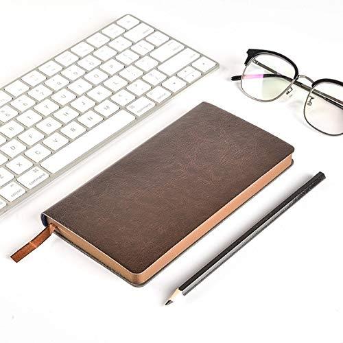 Notitieboekje Notepad Notitieboekje en dagboek School Project Dagboek Planner Agenda Solid Color Office A6 Koffie Kleur