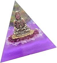 sharprepublic 8cm Decorative Crystal Orgone Pyramid Buddha Home Heal Stone Jewelry