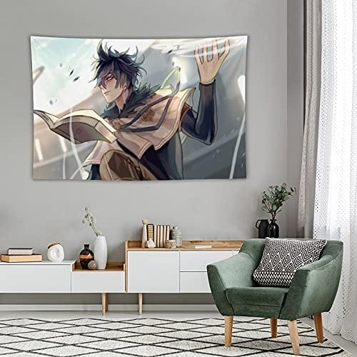 HQHQH Black Clover Yuno Grinbellor Tapiz Anime para Colgar en la Pared para Fiesta, Dormitorio, decoración, Regalo de cumpleaños 73x97cm