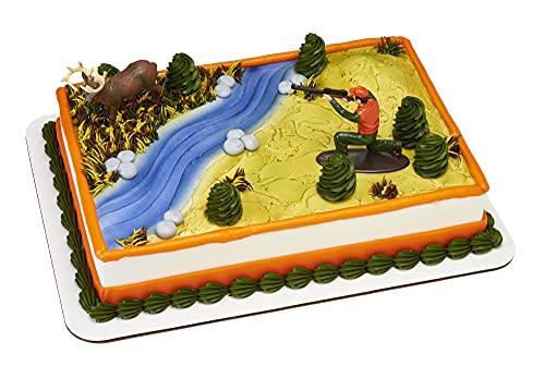 "Decopac Deer Hunting Cake Decorating Set Multi, Deer 3.1"" x 1.35"" x 3.1""; Hunter 3.4"" x 1.35"" x 2.65"""