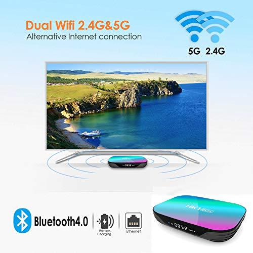 Sofobod HK1 Box Android 9.0 Smart TV Box, 4GB RAM 64GB ROM, with Amlogic Upgrade S905X3 Quad Core 64bit Cortex-A55, GPU G31™ MP2, 2.4G/5G Dual WiFi BT4.0 H.265 Decoding LAN 1000 RJ-45, HD 8K miniatura
