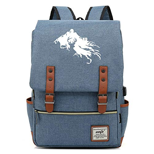 Casual Day Backpack, Unisex Large Harry USB Backpack, Travel and Hiking Backpack Large grayblue