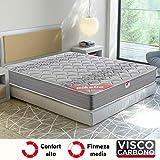 Pikolin Egeo - Colchón viscoelástico carbono de gama alta, máxima calidad y confort, firmeza media, altura 24 cm, 150 x...