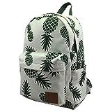 Pineapple Backpack for Teen Girls Pineapple Bag for Kids Canvas Rucksack Lightweight Sturdy Roomy Pineapple School Bag Travel Daypack for College