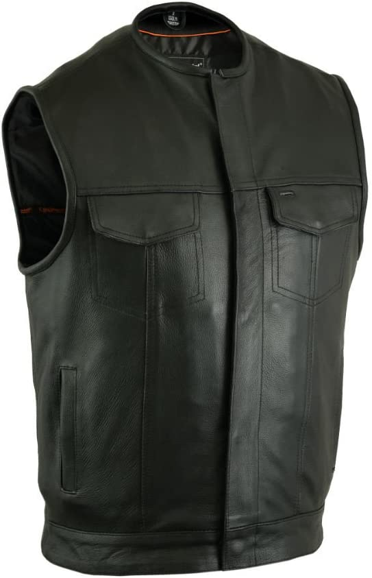 DS181A Concealed Free Ranking TOP10 shipping on posting reviews Snap Closure Cowhide Milled Without Collar
