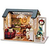 ABACUS Juguete 3D Puzzles Hecho a mano Miniatura Casa de muñecas Kit Dollhouses Accesorios Muñecas Casas con muebles LED Los mejores regalos de cumpleaños para mujeres y niñas y niños juguetes educati