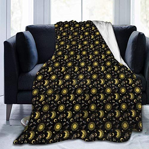 Popcorn In Spring Zigeunersonne Mondstern BlumenDecke Superweiche Bequeme Micro Fleece Fuzzy Decke dekorative Decke