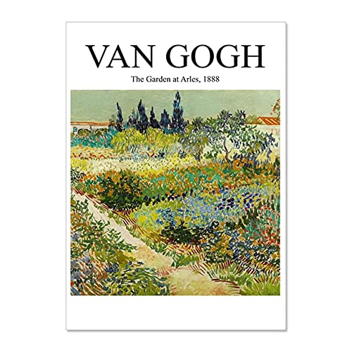 Van Gogh starry night abstract landscape poster, famous classic wall art printing picture, frameless canvas painting A1 30x40cm