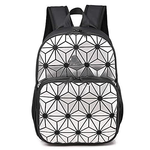 QIANJINGCQ Personalità della moda rombo geometrico grande capacità uomini e donne casual cool zaino borsa da viaggio zaino per computer