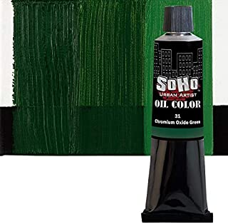 SoHo Urban Artist Oil Color Paint and High Pigmented Professional Oil Paint - 170 ml Tube - Chromium Oxide Green