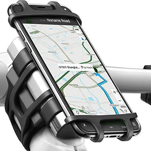 ANCwear Handyhalterung Fahrrad Universal Motorrad, Mountainbike, 4-in-1 Hochfestem Silikon Handyhalter Fahrrad Lenkerhalterung für iPhone XS Max/ 8/7/6 Plus, Samsung Galaxy und Android