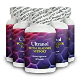 Ultranol Total Bladder Support - 100% Natural Supplement - Control Overactive Bladder and End Urinary Incontinence Naturally - In as Little as 24 Hours - Fast Acting Formula - 6 Bottles - 180 Capsules