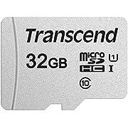 Transcend USD300S Tarjeta microSD de 32GB, Clase 10, U1, A1, hasta 95 MBs de Lectura