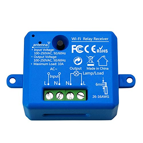 LoraTap Wifi Schalter Relais in blau Wireless Hausautomation IOS Android Anwendung DIY Auf-/Unterputz Kompatibel mit Google Home (1)