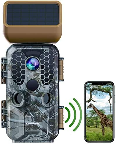 Campark Solar Panel Trail Camera 30MP 4K Native WiFi Bluetooth Game Camera with Night Vision product image