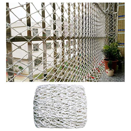 STTHOME Child Safety Net Protection Climbing Frames Bird Netting Cat Net Window Nets For Children's Games Stairs Protection White 5cm Mesh Multi-size (Size : 1 * 6M)