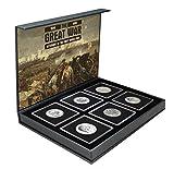 IMPACTO COLECCIONABLES 6 Monedas Originales en Plata de la Gran Guerra 1914-1918 - Colección Veteranos de la Primera Guerra Mundial