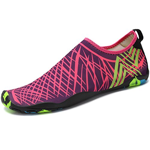 SAGUARO Zapatos de Agua Zapatillas de Playa Verano Secado Rápido Calcetines Natación Calzado Surf Acuàticos Deporte Hombre Mujer, Rosa 38