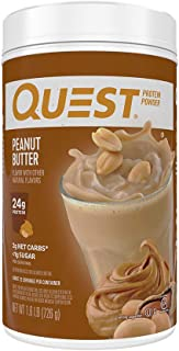 Quest Nutrition Peanut Butter Protein Powder, High Protein, Low Carb, Gluten Free, Soy Free, 1.6Pound