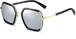 SGJFZD Vintage Retro Outdoor Seaside Sunscreen UV400 Polarized Sunglasses Fishing Ladies's Polarized Sunglasses Trendy Polarized Sunglasses Sporting Large Frame Elegant Sunglasses (Color : Silver)