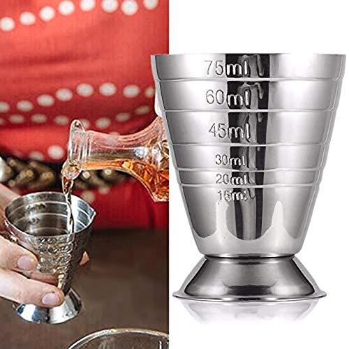 DULALA Messbecher Edelstahl Messbecher Unze Jigger Bar Cocktail Drink Mixer Schnaps Messbecher Mojito Measurer Milch Kaffeetasse