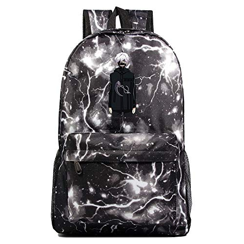 XYUANG Tokyo Ghoul Starry Sky Color School Bags Backpack Unisex Rucksack College for Women Men Girls-O