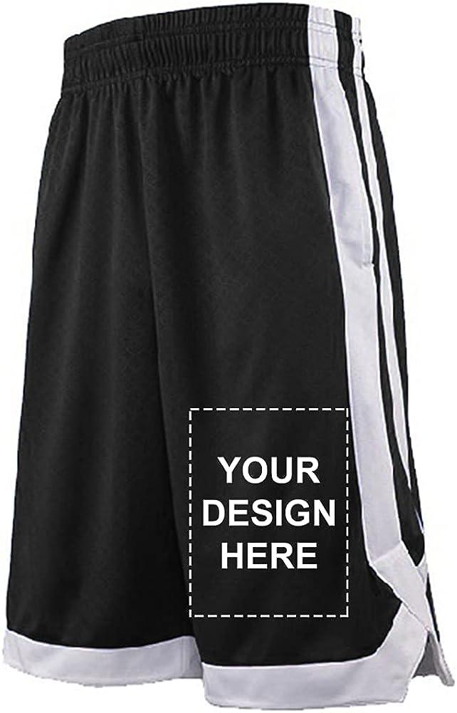 TOPTIE Custom Big Boys Athletic Basketball Shorts Personalized Running Shorts with Pockets