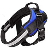 Service Dog Harness, Easy On and Off Pet Vest Harness, Reflective Breathable and Easy Adjust Pet Halters with Nylon Handle for Small Medium Large Dogs - No More Pulling, Tugging or Choking