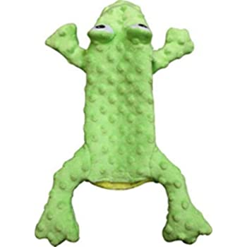 "Ethical Pets 54093 Skinneeez Extreme Stuffing Free Dog Toy, 14"", Frog, Green"