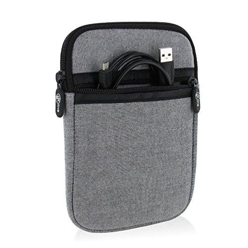gk line Schutzhülle für eBook Reader Tasche Hülle Neopren Hülle Reißverschluss grau für max. Abmessungen von 180 x 120 mm