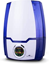 Air Innovations MH-505 Blue 505A Cool Mist Digital Humidifier with Aromatherapy 1.37 Gallons for Large Rooms Up to 400 Square Feet, White
