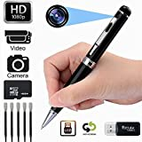 Kaboll 16GB Surveillance DVR Portable Pen HD 1080P Nanny Cam Home Convert Multifunction Camera for Valentine's Day