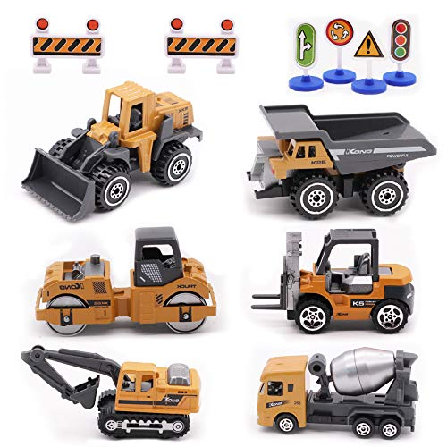 Alloy Construction Engineering Vehicle Toys Set 12 Pack Stacker,Big...