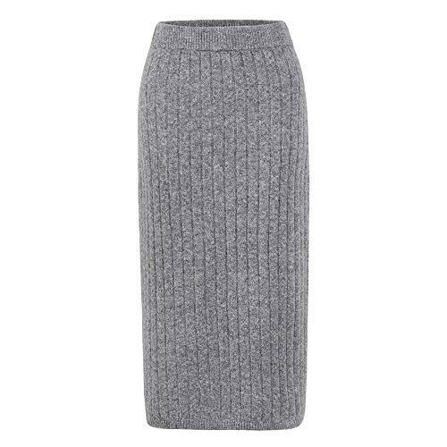 JSTEX Women's Ribbed Knit Midi Sweater Skirt High Waist...