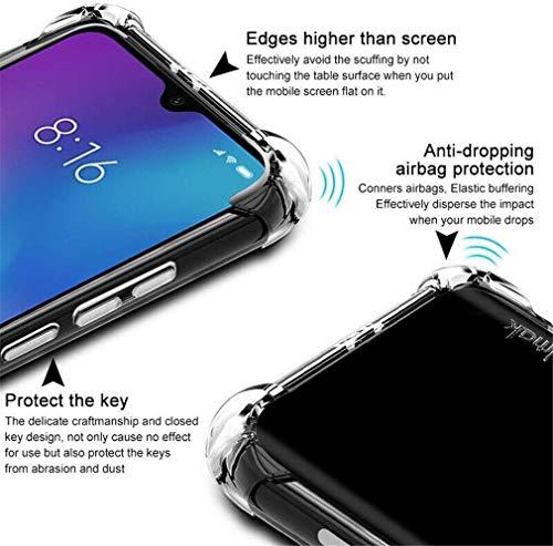 HYMY Hülle + Schutzfolie Panzerglas für Huawei Nova 5T -Clear Schutzhülle TPU Handytasche Tasche Verstärkung an Vier Ecken Blau Necklace Hülle Case mit Kordel zum Umhängen in Bordeauxrot-Pink - 3