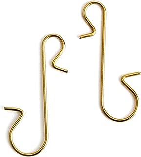 RuiLing 100pcs Metal S Hooks DIY Christmas Tree Decoration Pendants Ornaments Hanging Hooks Multi-Function S-Shaped Hook Hanger Gold