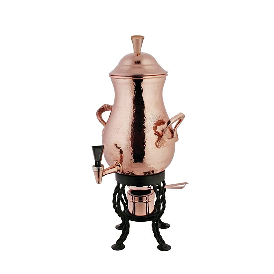 Coffee Urn 50 Cup Hammered Copper - 11