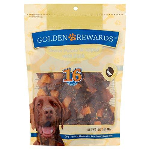 Golden Rewards Sweet Potato Wrapped with Duck Dog Treats, 16 Oz