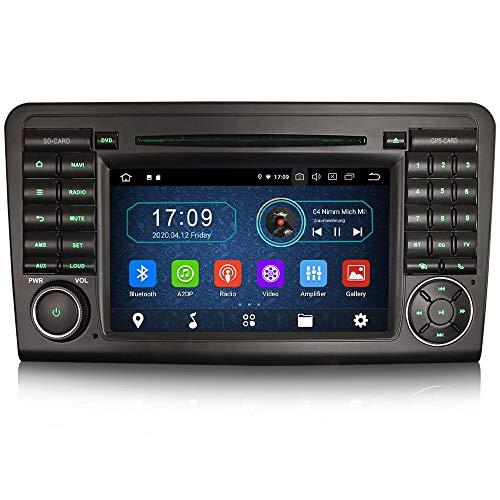 Erisin Android 10.0 7' Autoradio DVD für Mercedes Benz Klasse M/ML/GL W164 X164 Unterstützt DAB+ Navi Carplay DVD Bluetooth WiFi A2DP RDS FM/AM DVB-T2 OBD PX30 2GB RAM+16GB ROM