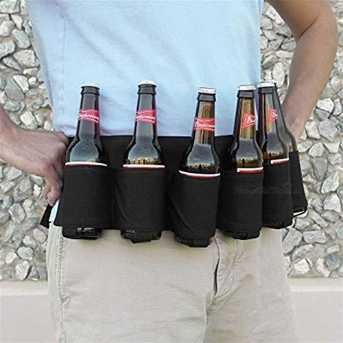 Boîte à lunch pique-nique Sacs sac à lunch box For la bière de stockage en plein air, sac de bière en plein air 6 Pack Holster Bouteille Portable taille bière Ceinture Sac Camping Randonnée pratique B