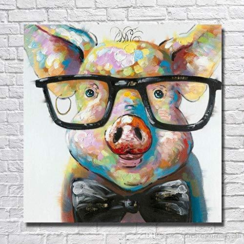 olieverfop doek gorilla dier decoratie kunst aan de muur woonkamer decoratie foto ingelijst90cmx90cm