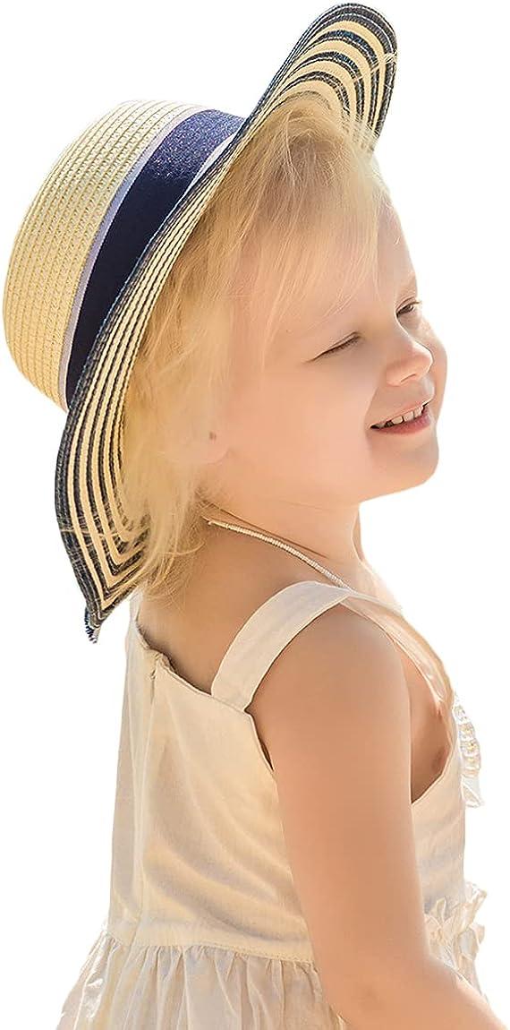Parent-Child Sun Hat,Women Straw Hat Wide Brim, Sun Visor,Beach Straw Hat for Women,Girls Straw Beach Hat