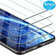 Beikell iPhone XR Screen Protector, [4-Pack] Premium Tempered Glass Screen Protectors for iPhone XR 6.1 inch - 9H Hardness, Anti Scratch, No Bubbles, High Definition, Easy To Apply, Case Friendly