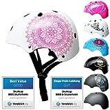 SkullCap® Kids BMX & Skate Helmet - Bicicleta Y Scooter Eléctrico, Diseño: Mandala, Talla: S