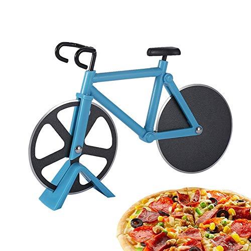 TDCQ Fahrrad Pizzaschneider,Pizza Cutter Bicycle,Pizza Cutter Wheel,Pizza Cutter Bike,Fahrrad Pizzaschneider, Pizzarad aus Edelstahl,Fahrrad Pizzaschneider Edelstahl