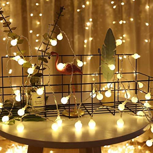 Fairy Garland LED Ball String Light Impermeable Día de Navidad Decoración del hogar poste de luz usb 10m100 leds