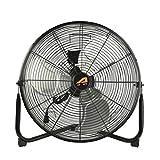 Aain(R) AA010 20'' High Velocity Floor Fan, 6000 CFM Industrial Metal Fans for Industrial Garage Shop, 3 Speed Settings, Black